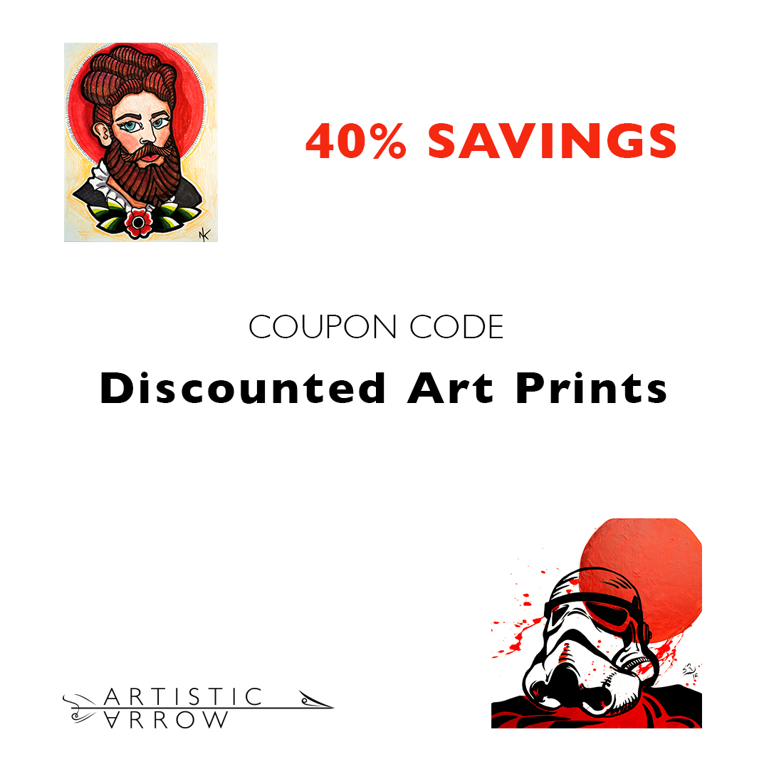 c Arrow Gallery Discounted Art Prints for sale 40% Coupon code